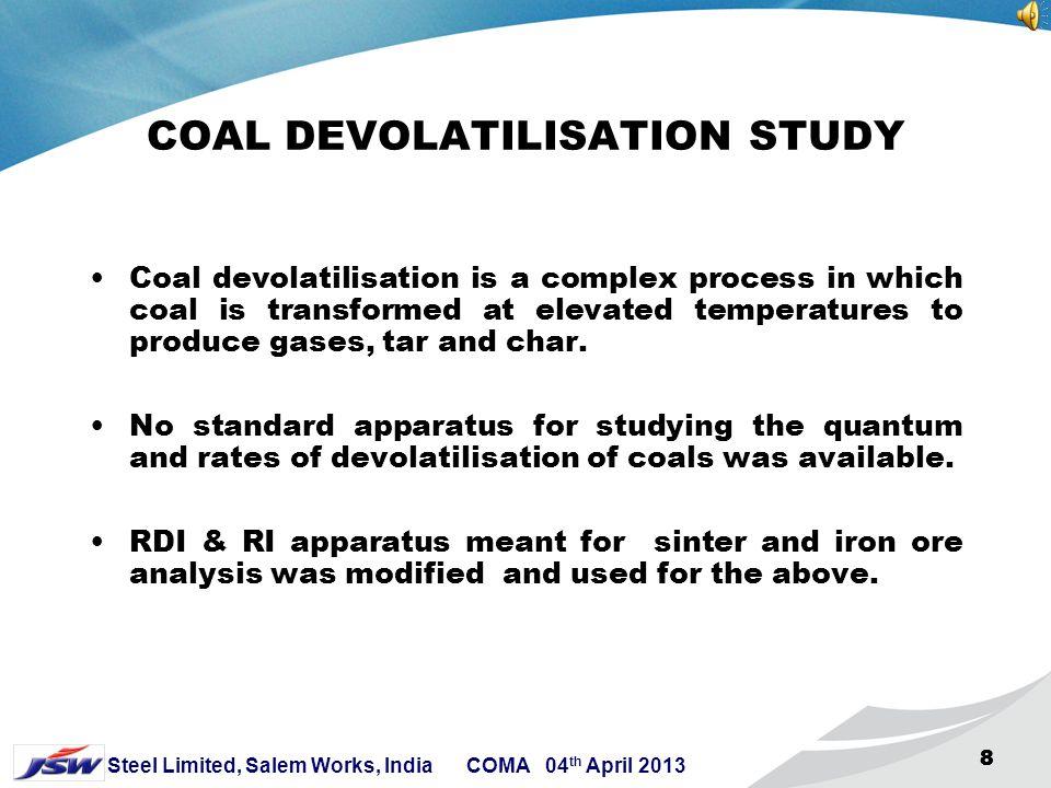 COAL DEVOLATILISATION STUDY