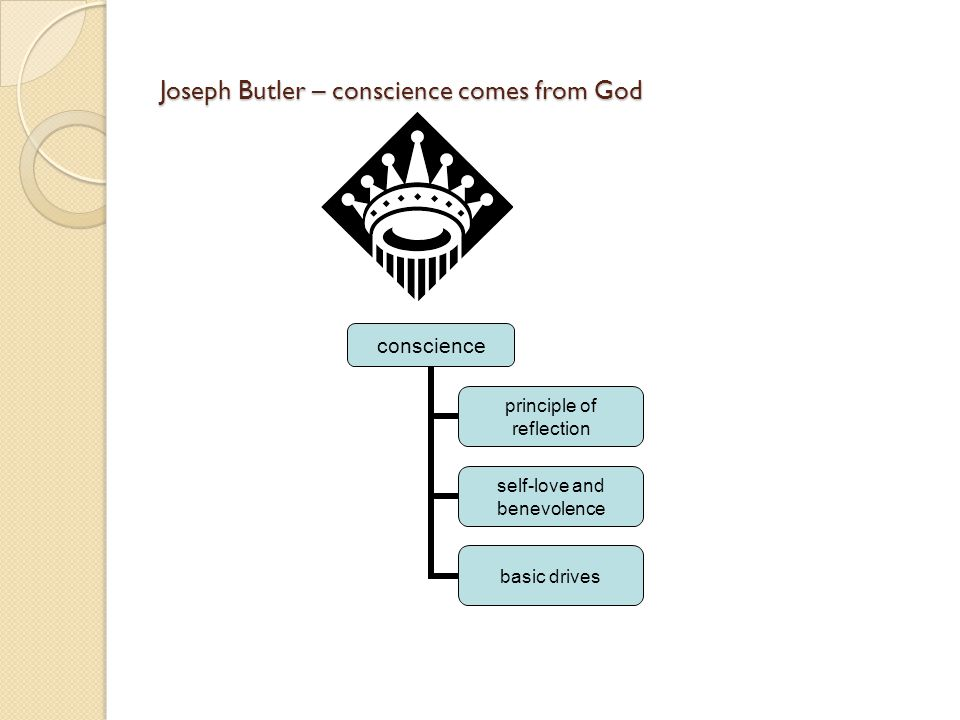 Joseph Butler – conscience comes from God