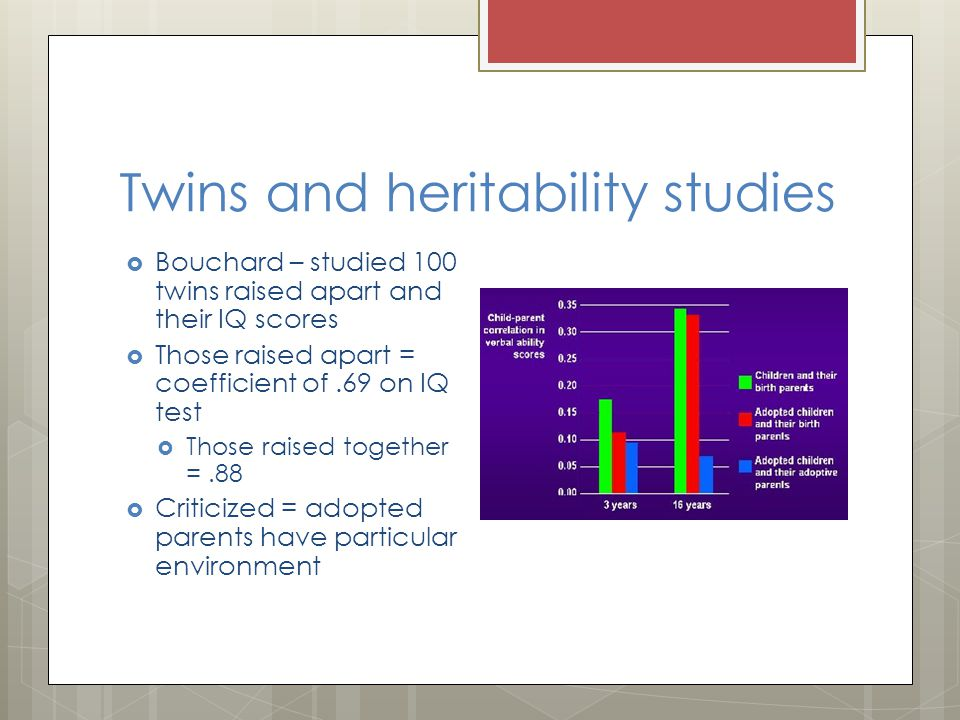 Twins and heritability studies