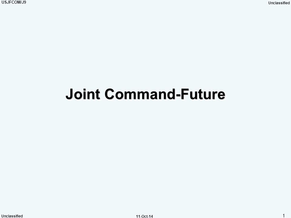 Joint Command-Future
