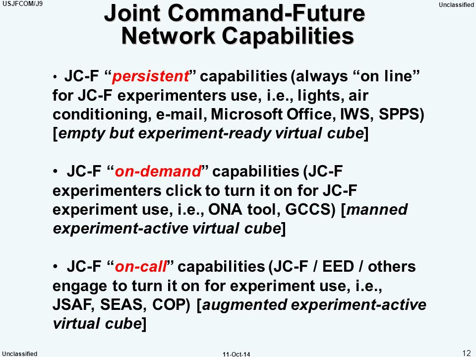 Joint Command-Future Network Capabilities