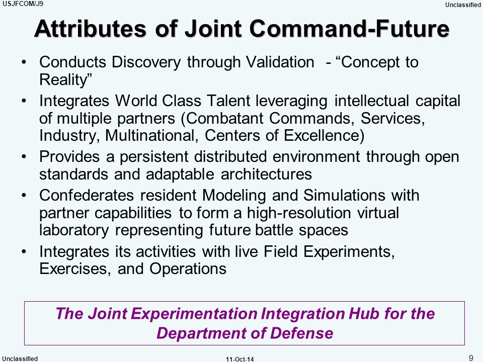 Attributes of Joint Command-Future