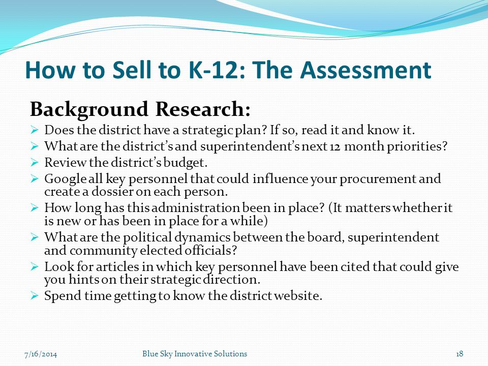 How to Sell to K-12: The Assessment