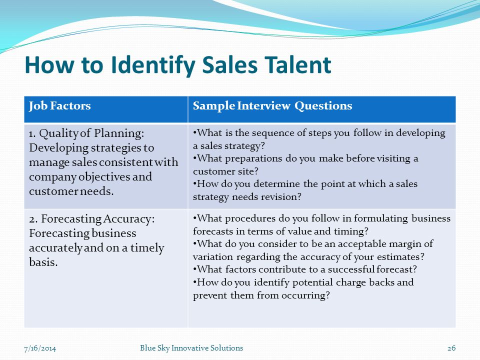 How to Identify Sales Talent