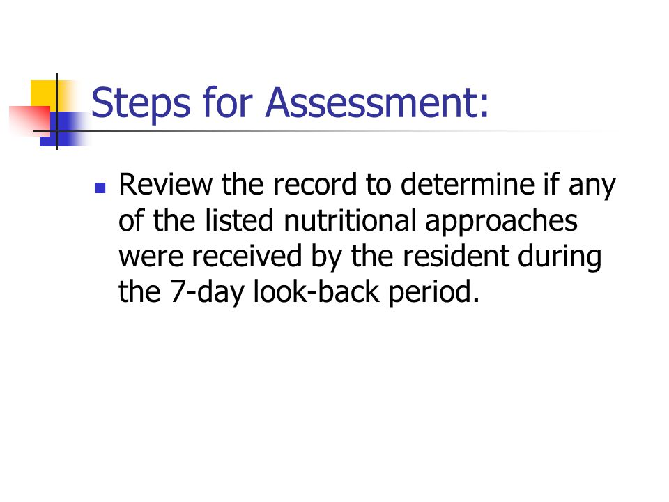 Steps for Assessment: