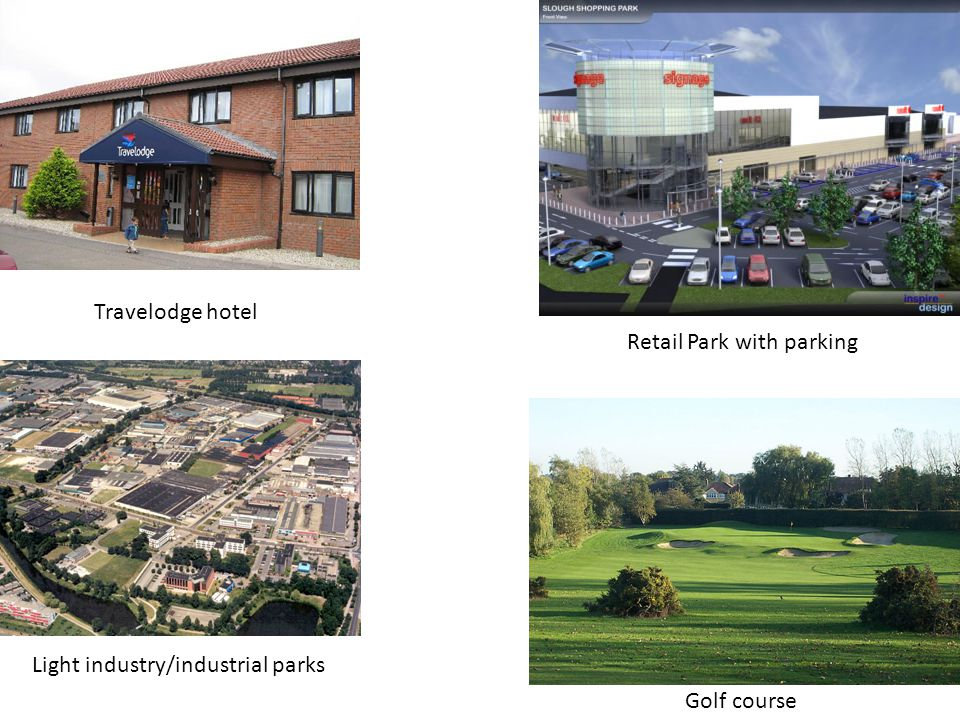 Retail Park with parking