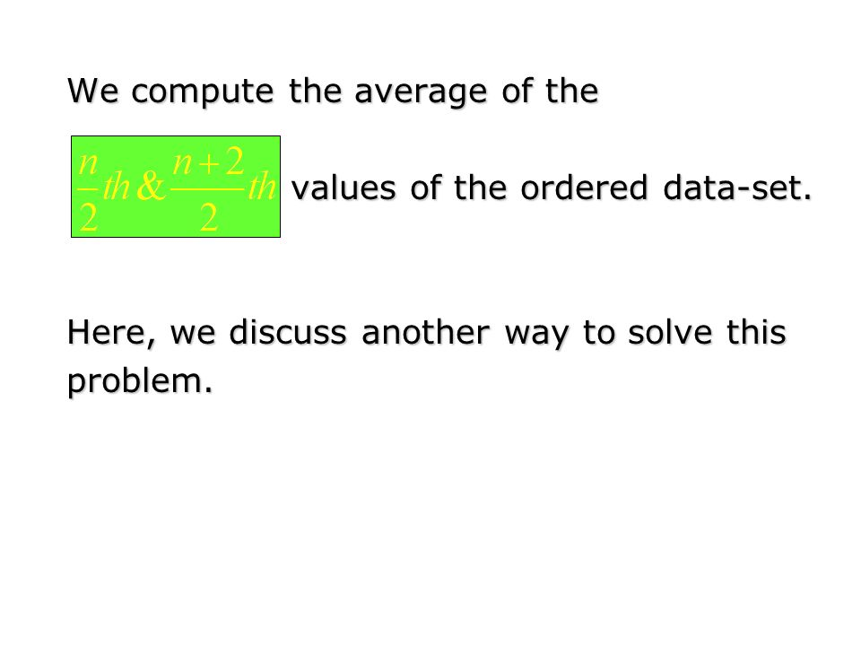 We compute the average of the