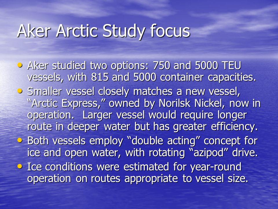 Aker Arctic Study focus