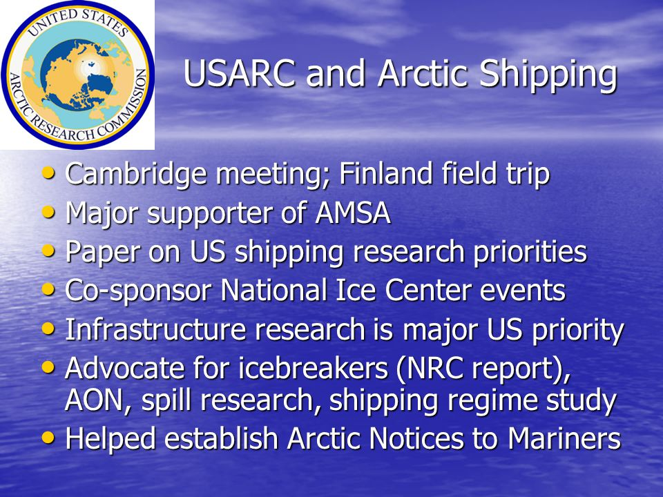 USARC and Arctic Shipping