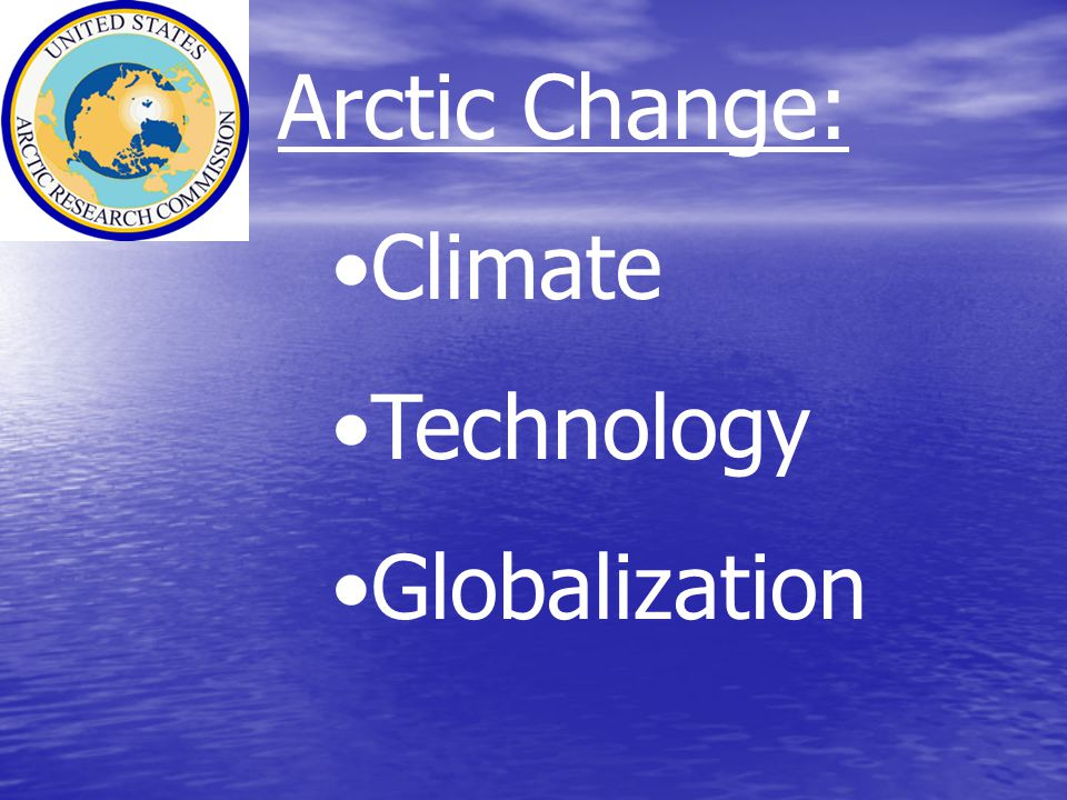 Arctic Change: Climate Technology Globalization