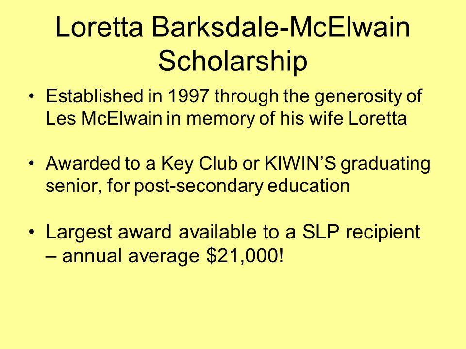 Loretta Barksdale-McElwain Scholarship