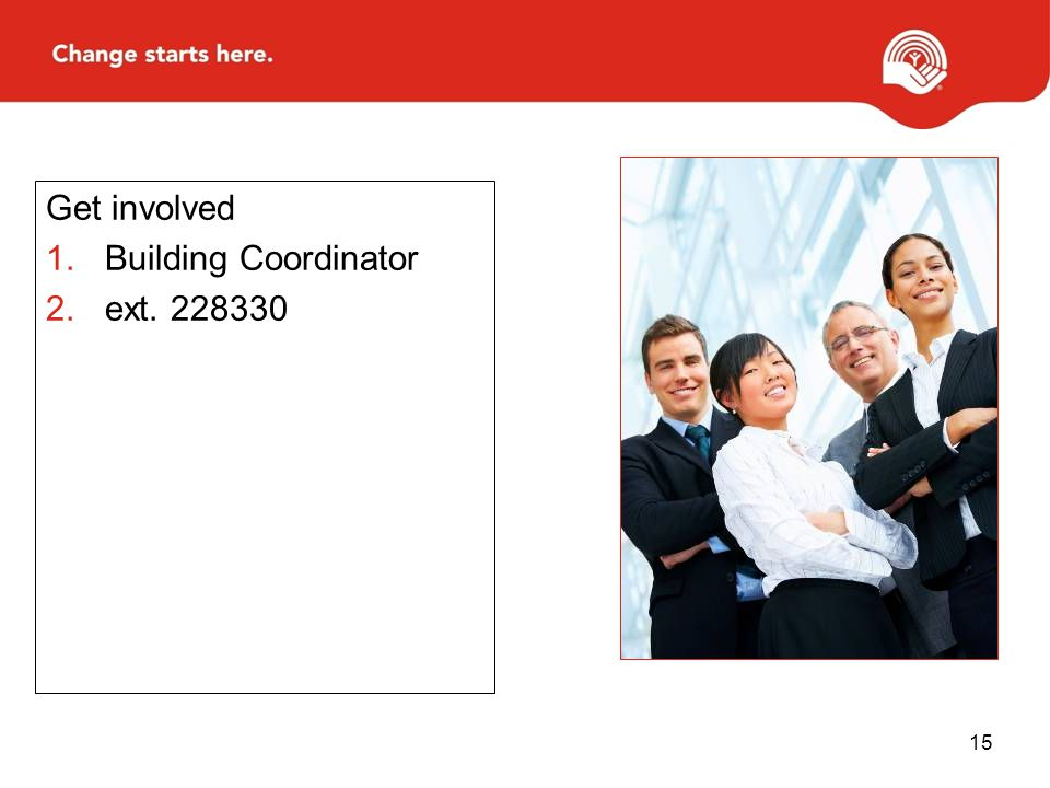 Get involved Building Coordinator ext