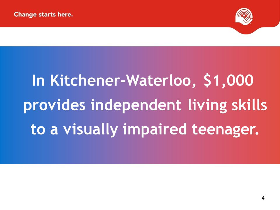 In Kitchener-Waterloo, $1,000 provides independent living skills