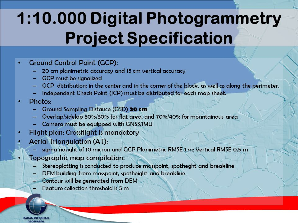 1:10.000 Digital Photogrammetry Project Specification