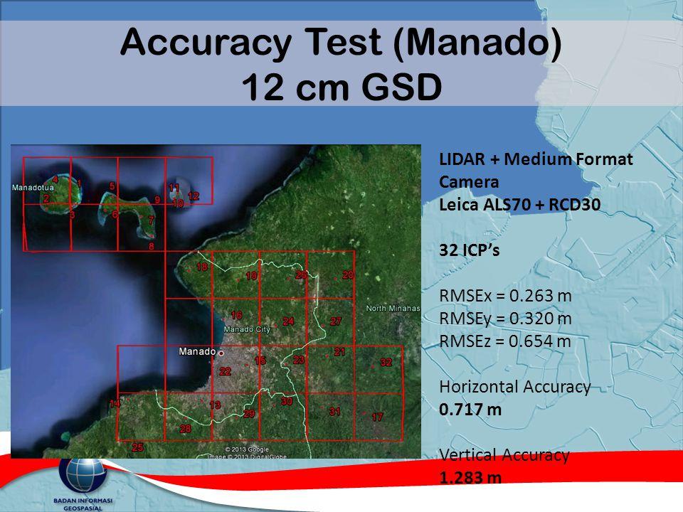 Accuracy Test (Manado) 12 cm GSD