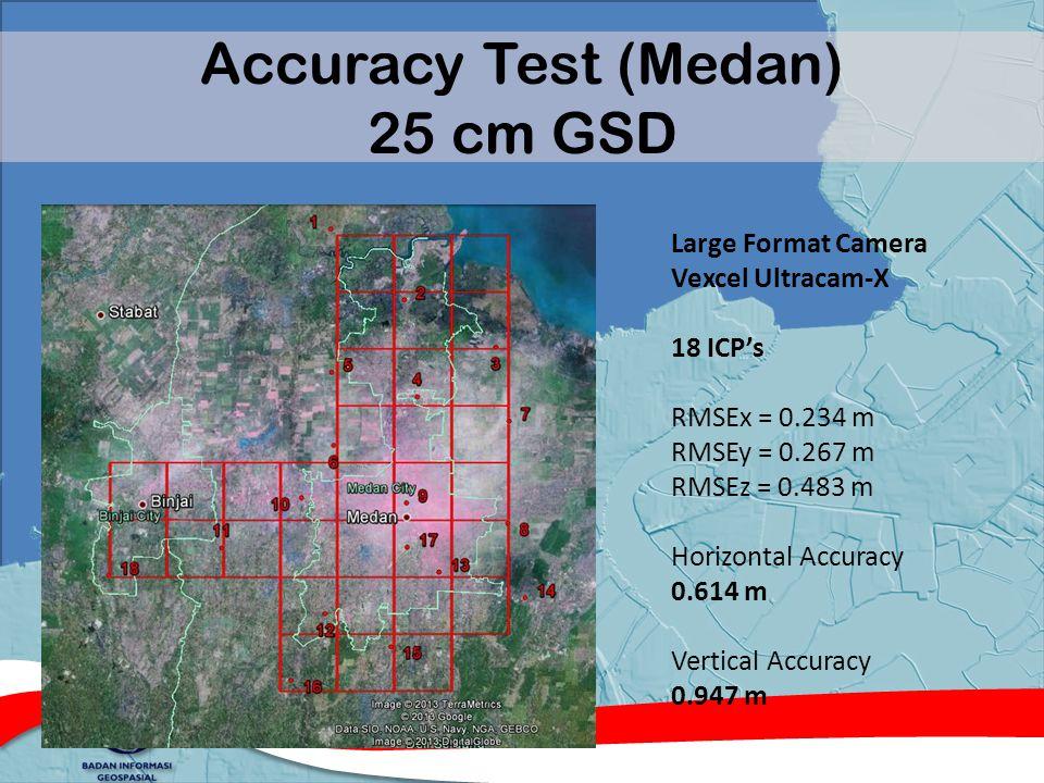 Accuracy Test (Medan) 25 cm GSD