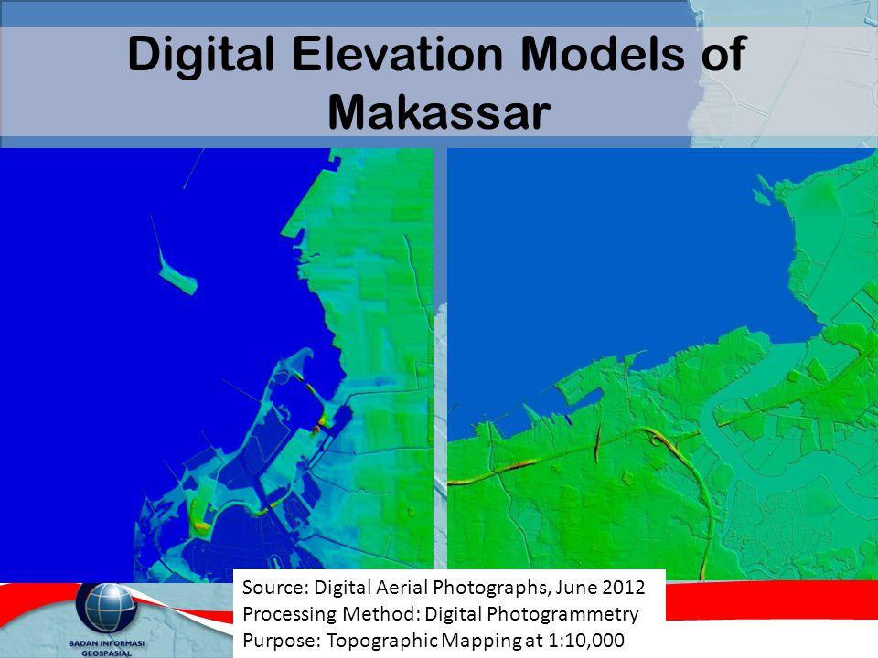 Digital Elevation Models of Makassar