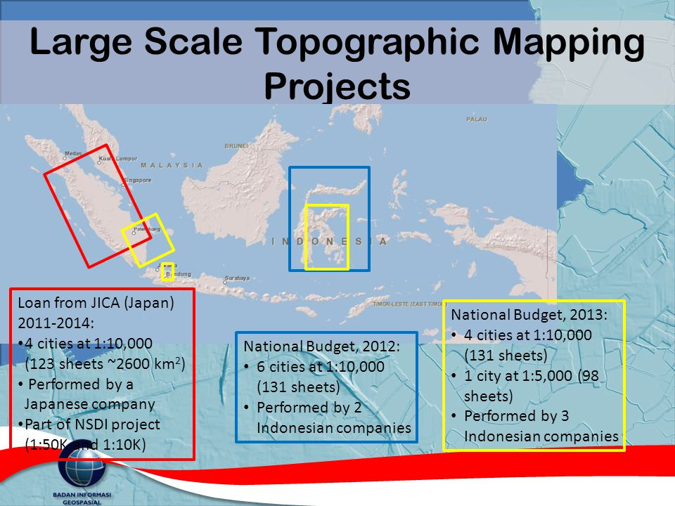 Large Scale Topographic Mapping Projects
