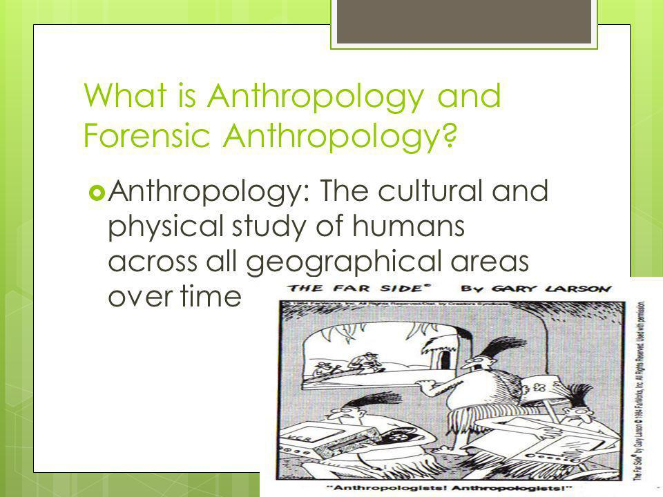 What is Anthropology and Forensic Anthropology