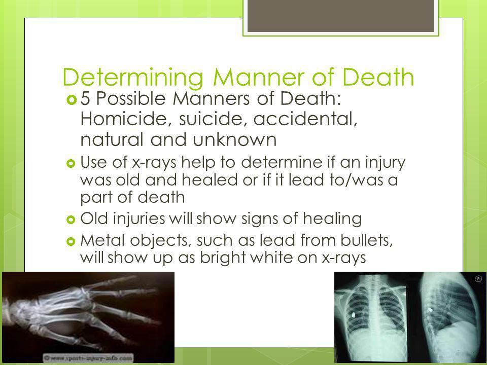 Determining Manner of Death