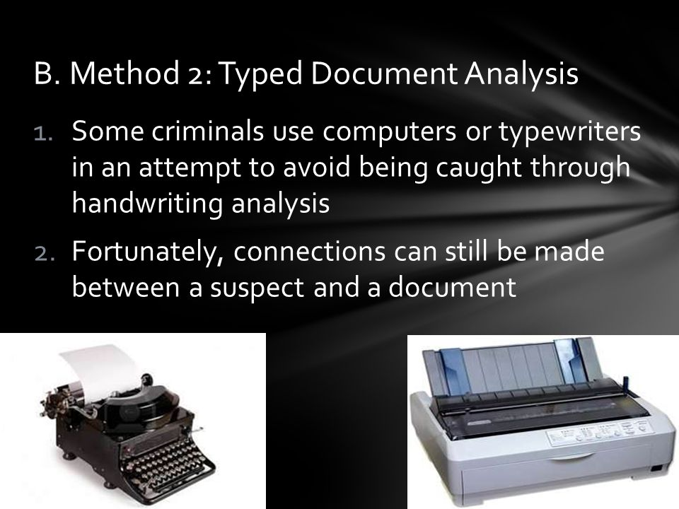 B. Method 2: Typed Document Analysis