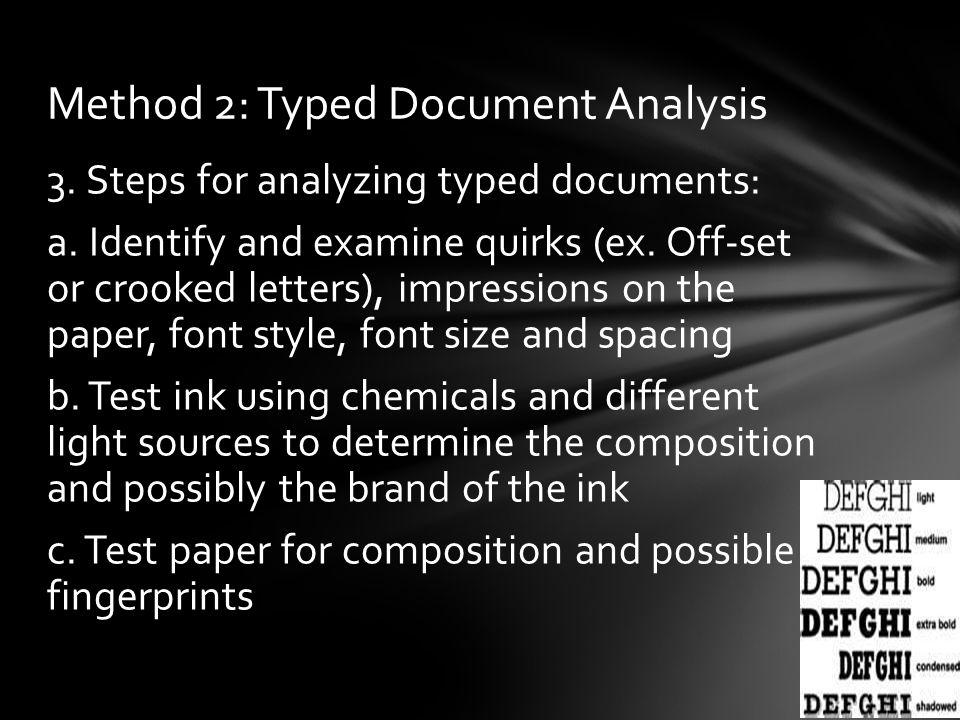 Method 2: Typed Document Analysis