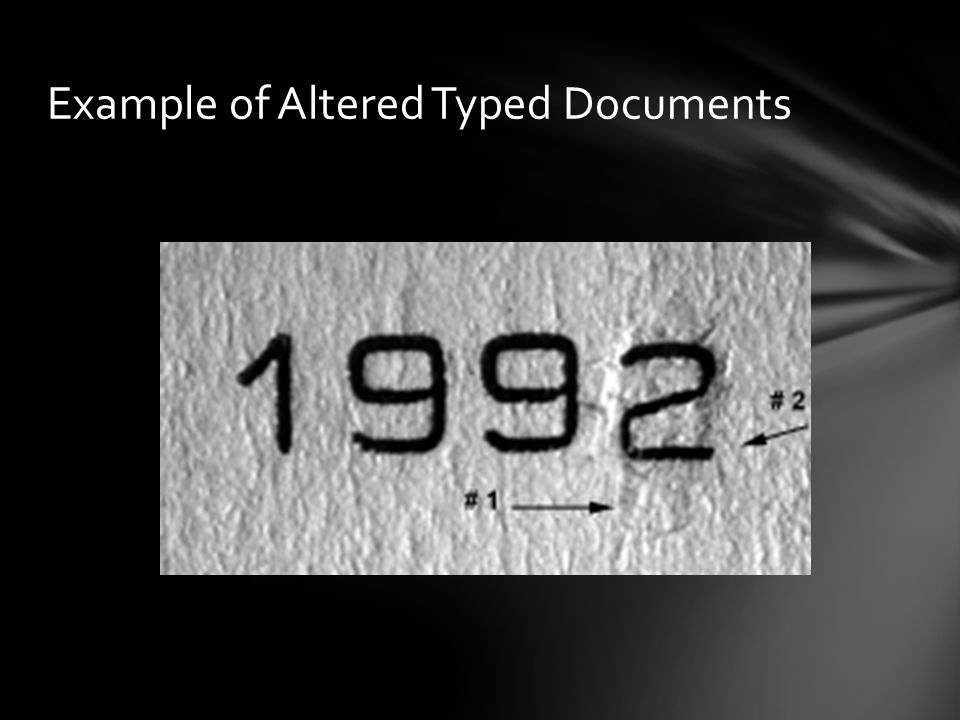 Example of Altered Typed Documents