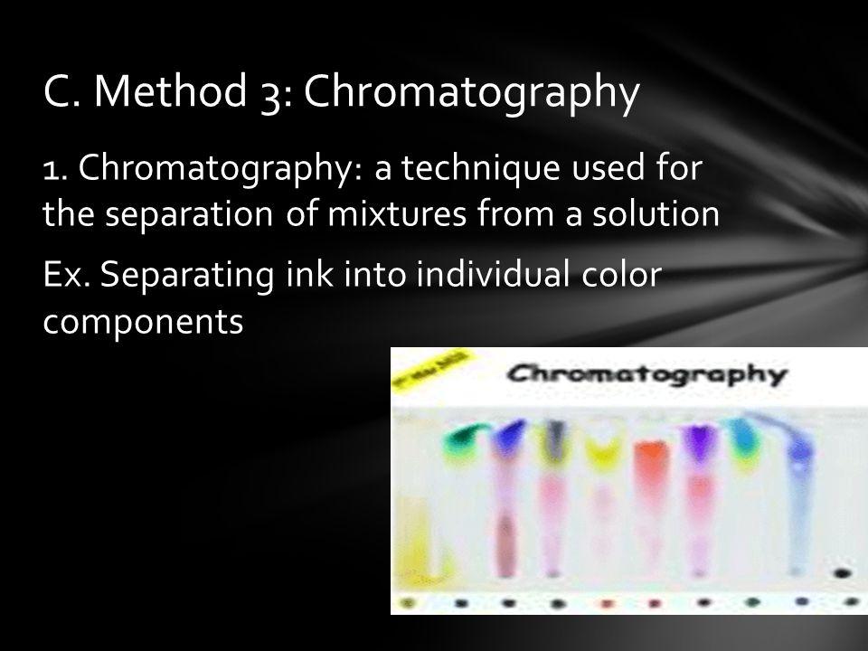 C. Method 3: Chromatography