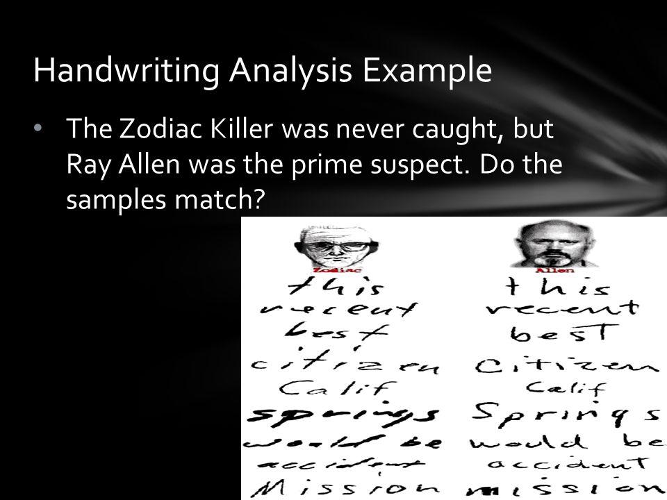 Handwriting Analysis Example