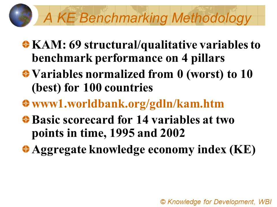 A KE Benchmarking Methodology
