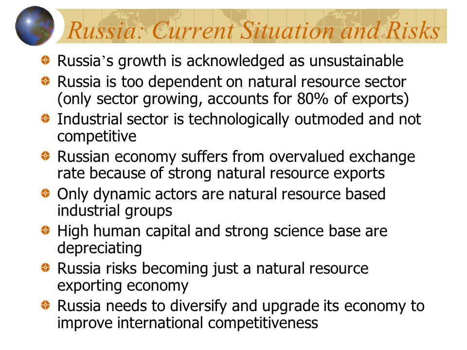 Russia: Current Situation and Risks
