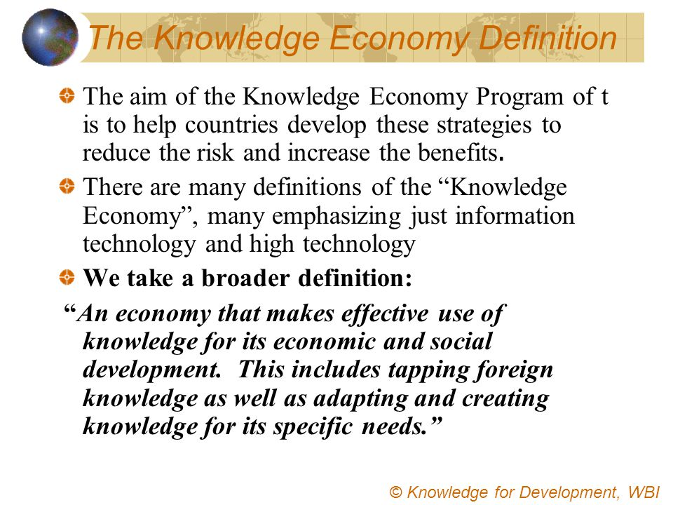 The Knowledge Economy Definition