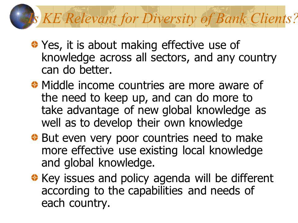 Is KE Relevant for Diversity of Bank Clients