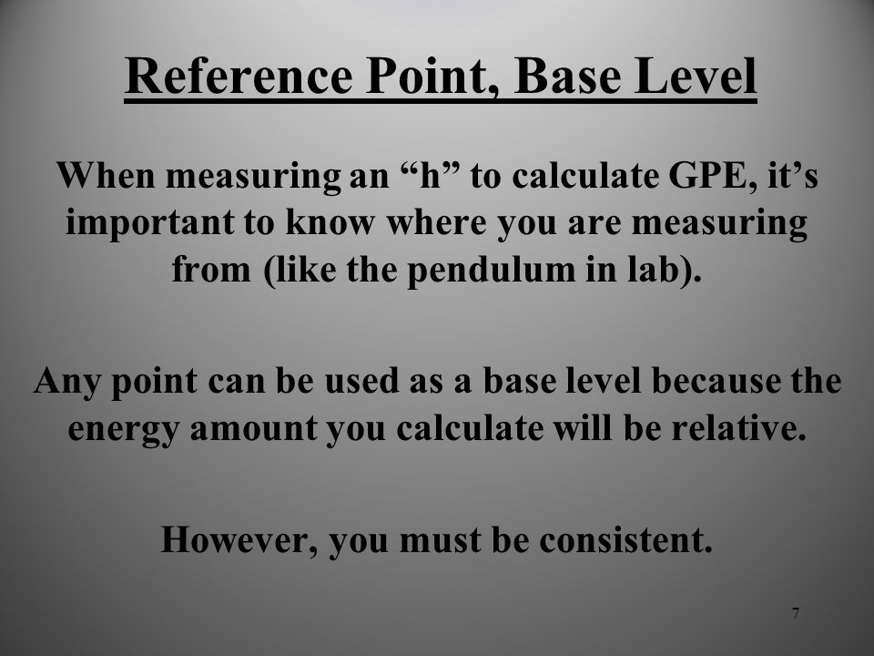 Reference Point, Base Level