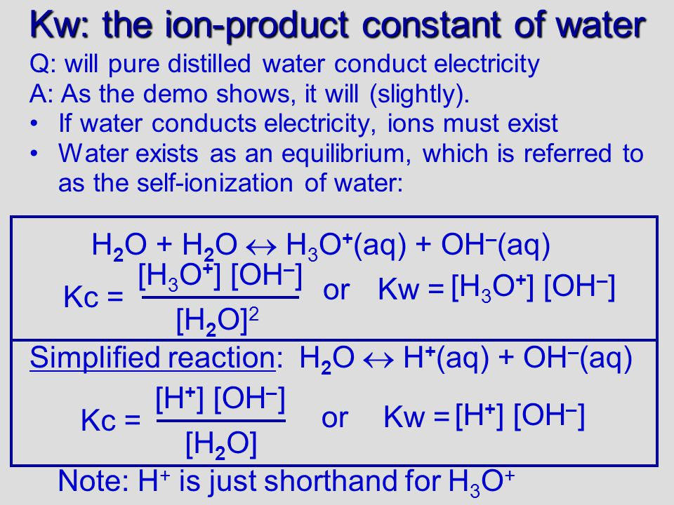 Kw: the ion-product constant of water