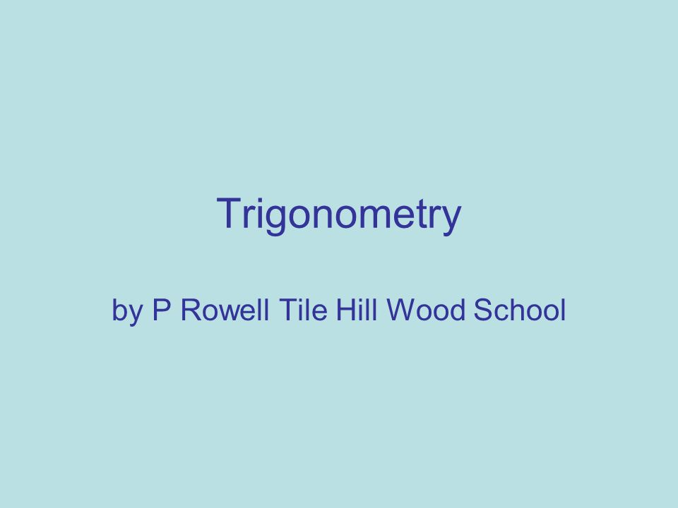 by P Rowell Tile Hill Wood School