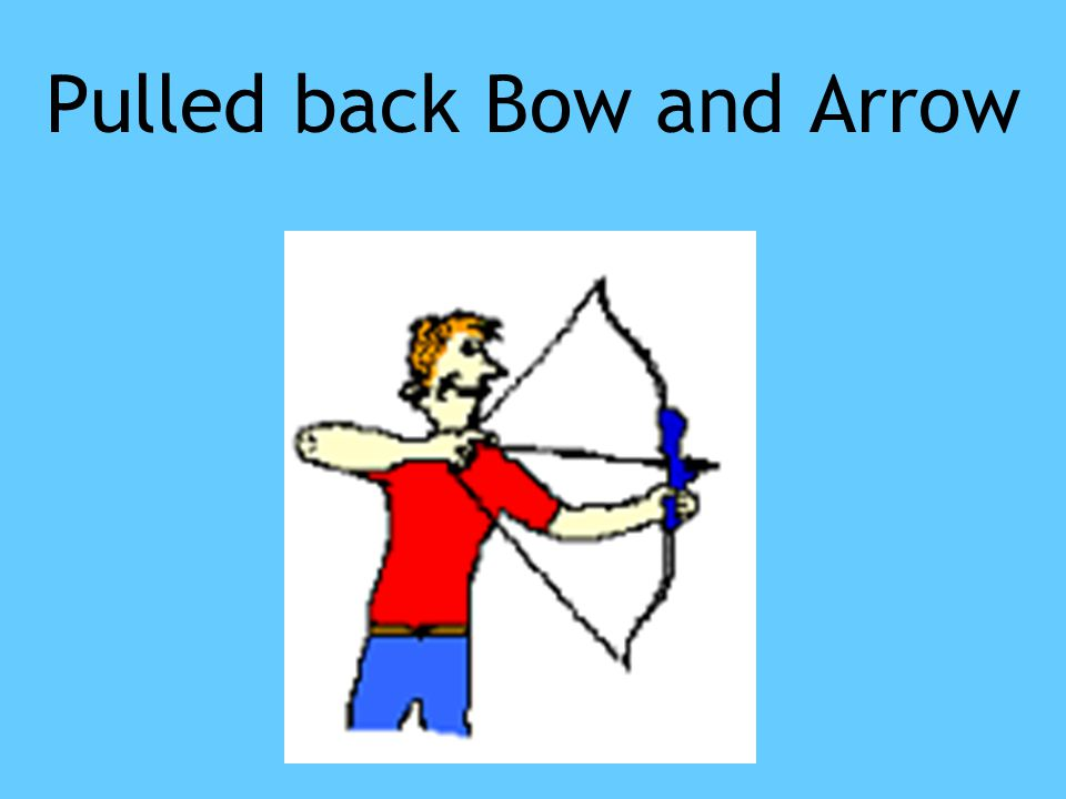 Pulled back Bow and Arrow