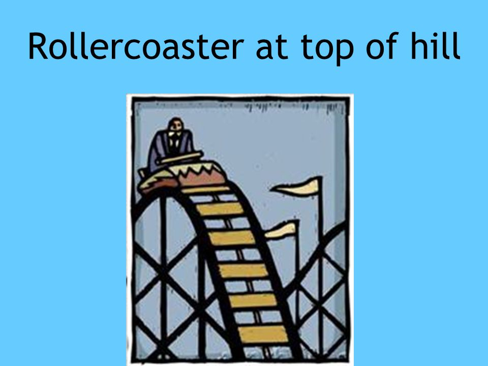 Rollercoaster at top of hill