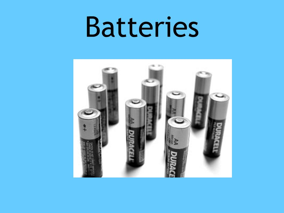 Batteries Potential energy