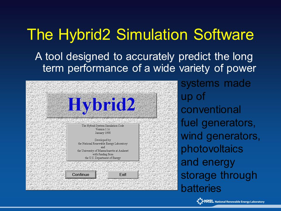 The Hybrid2 Simulation Software