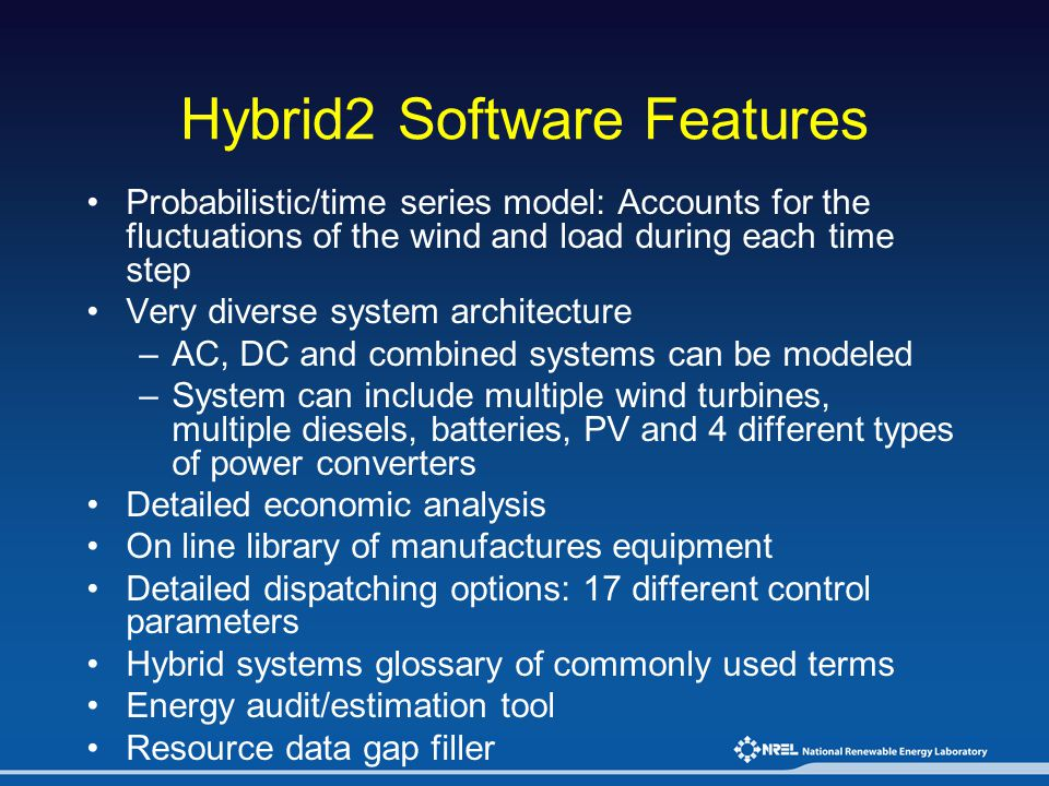 Hybrid2 Software Features