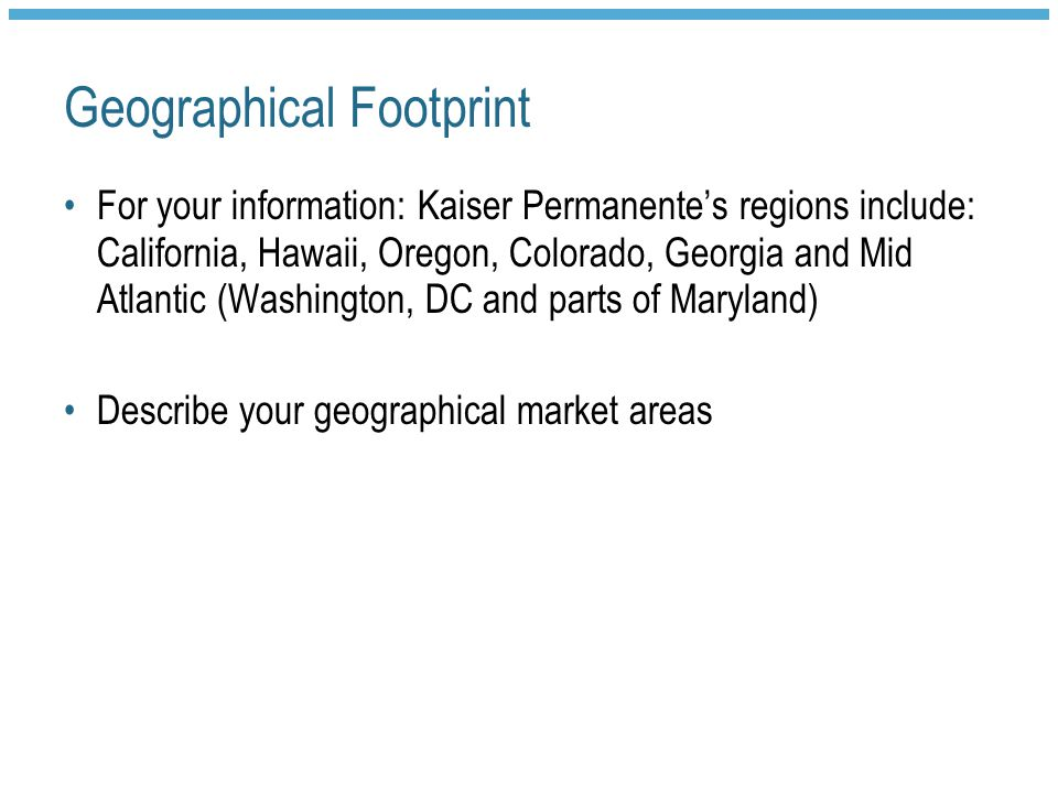 Geographical Footprint
