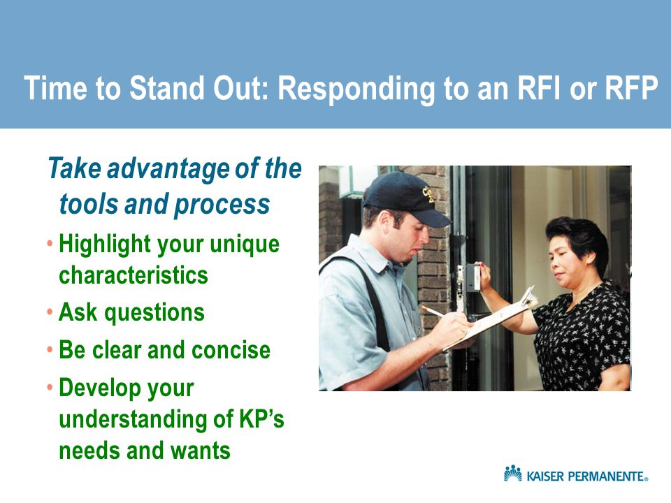 Time to Stand Out: Responding to an RFI or RFP