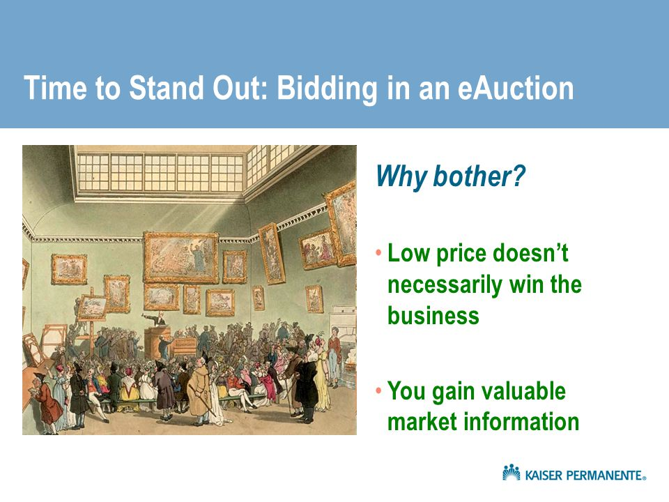 Time to Stand Out: Bidding in an eAuction
