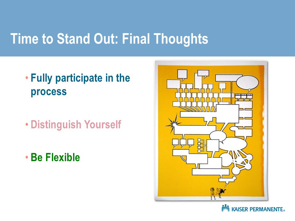 Time to Stand Out: Final Thoughts