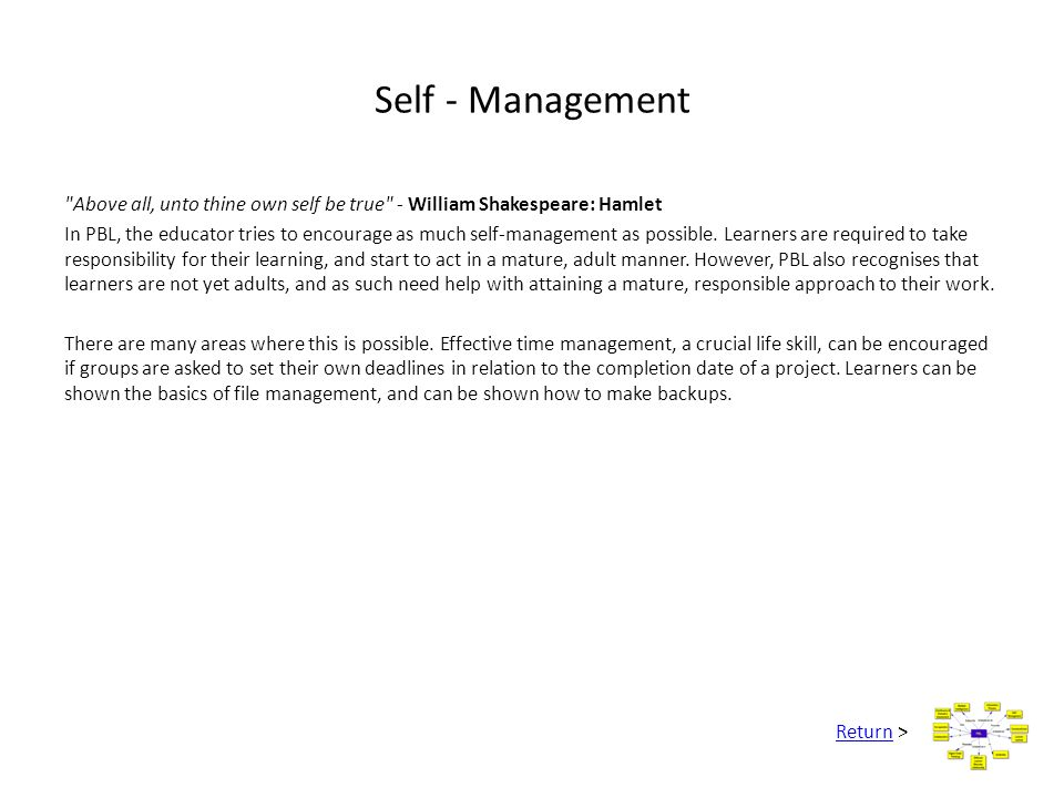 Self - Management
