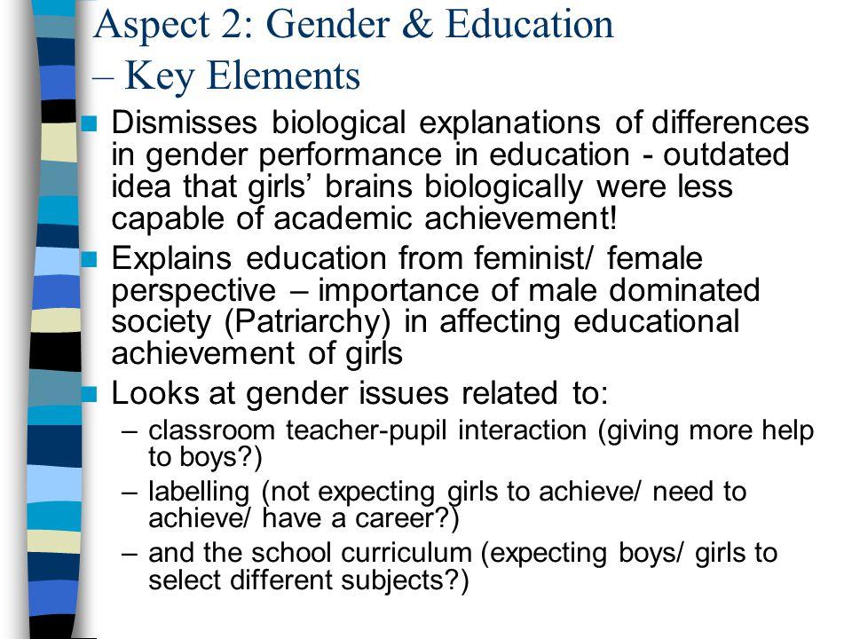 Aspect 2: Gender & Education – Key Elements