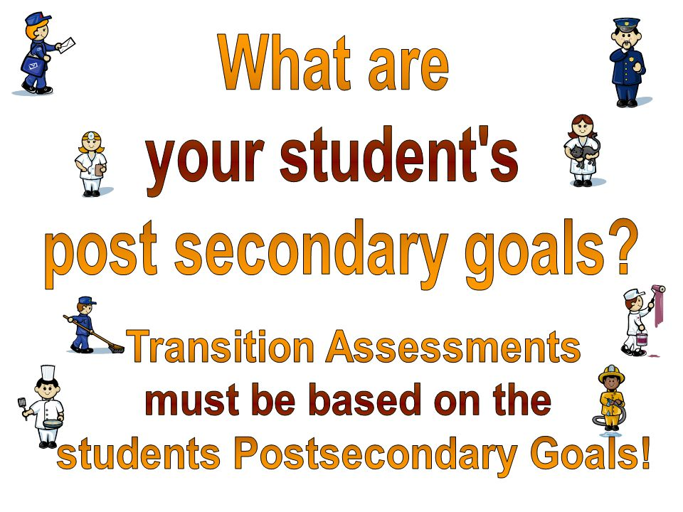 Transition Assessments students Postsecondary Goals!