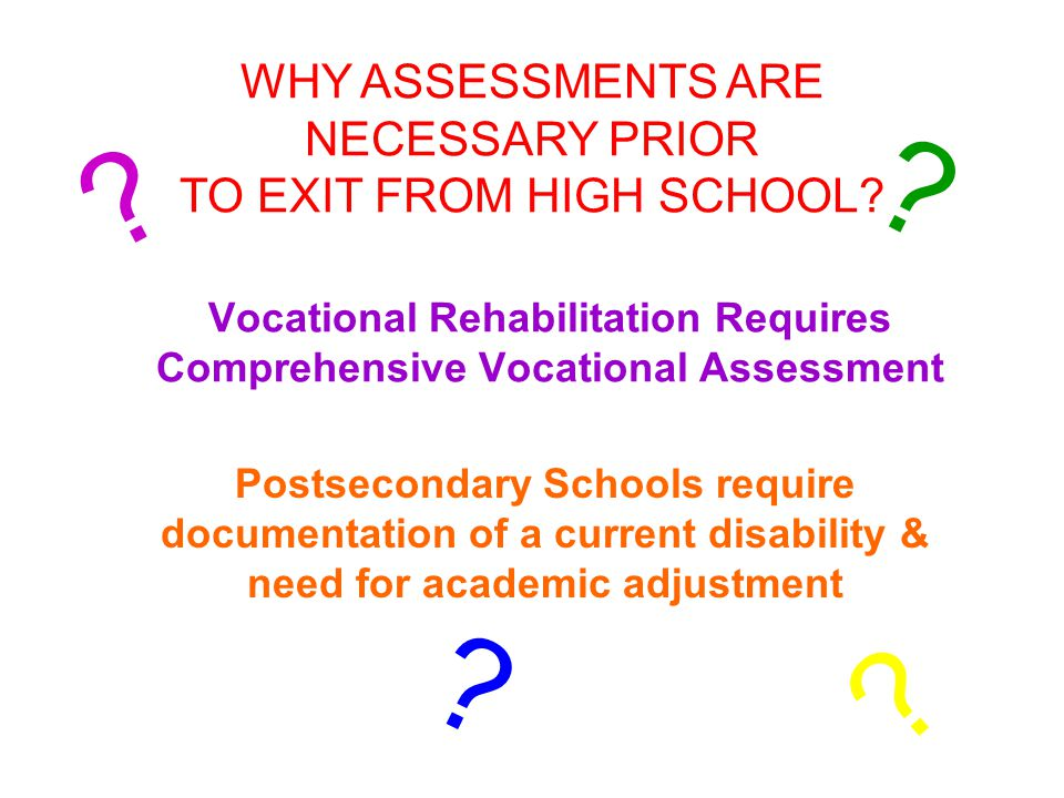 Vocational Rehabilitation Requires Comprehensive Vocational Assessment