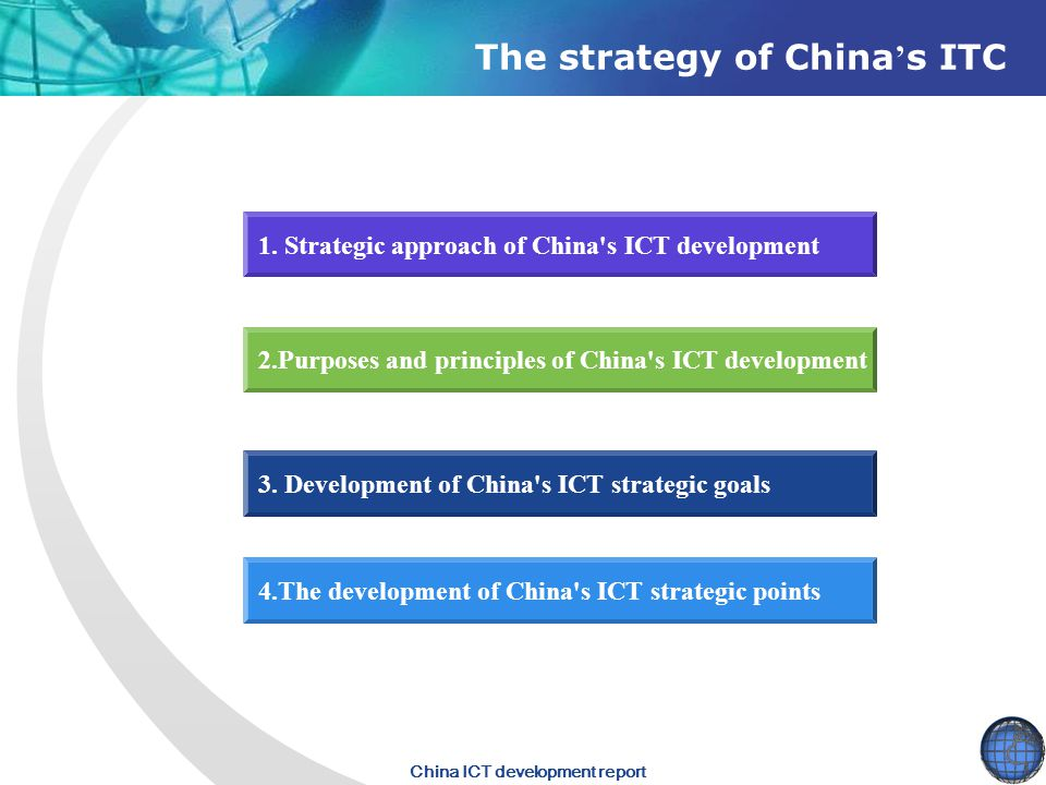 The strategy of China's ITC